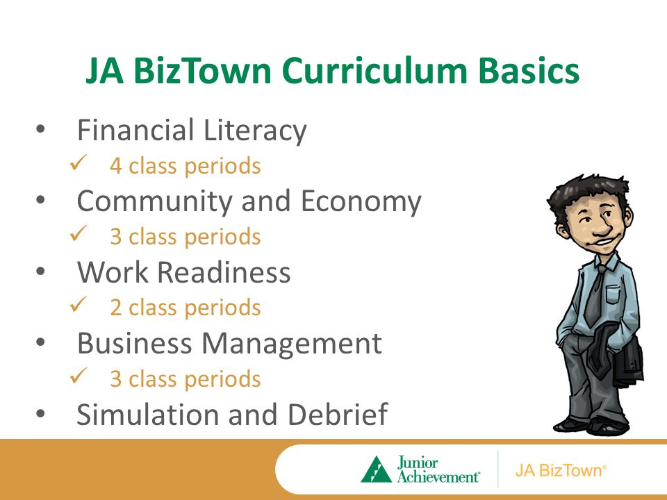 JA BizTown Curriculum Materials