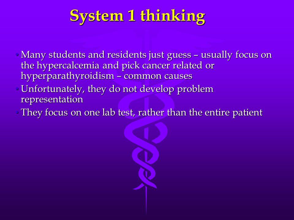 System 1 thinking