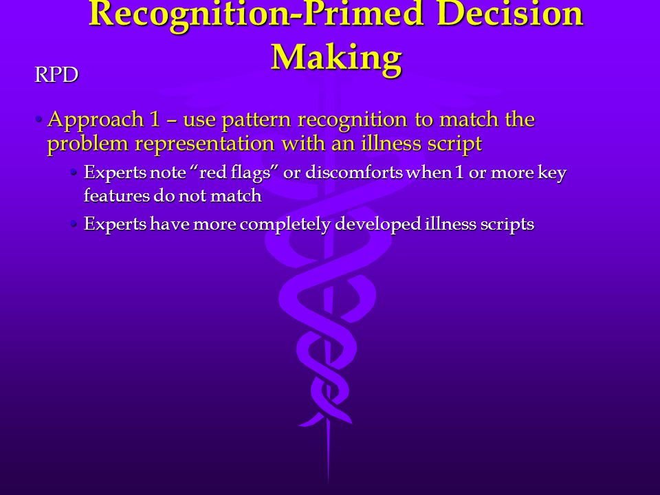 Recognition-Primed Decision Making