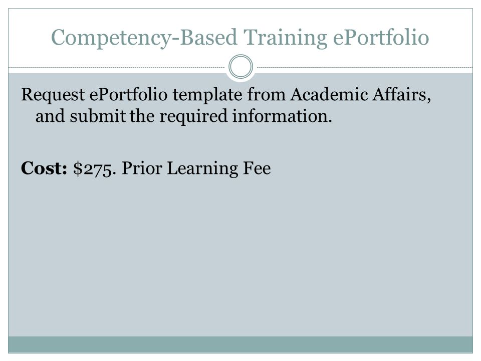 Competency-Based Training ePortfolio