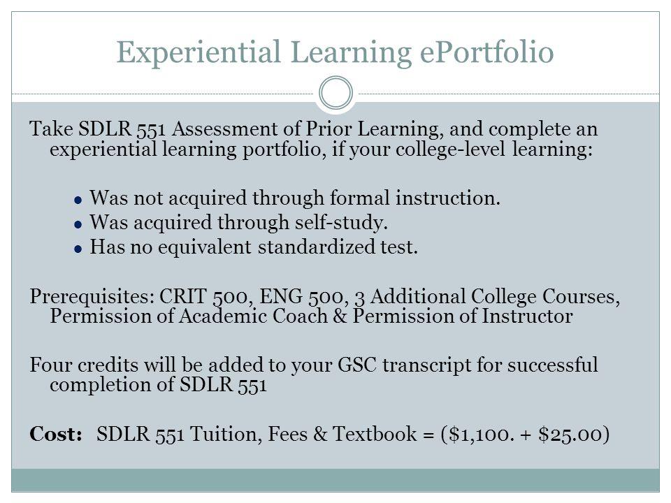 Experiential Learning ePortfolio