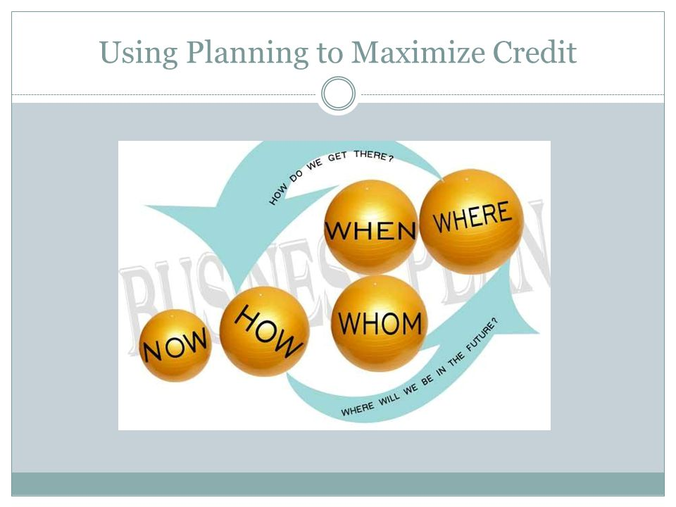 Using Planning to Maximize Credit