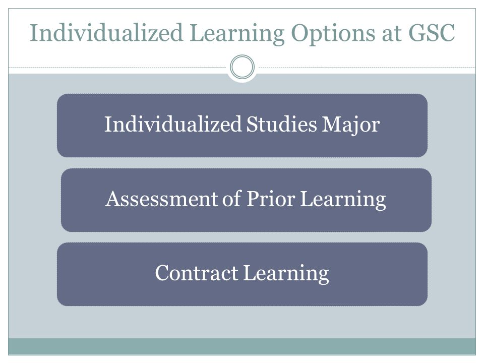 Individualized Learning Options at GSC