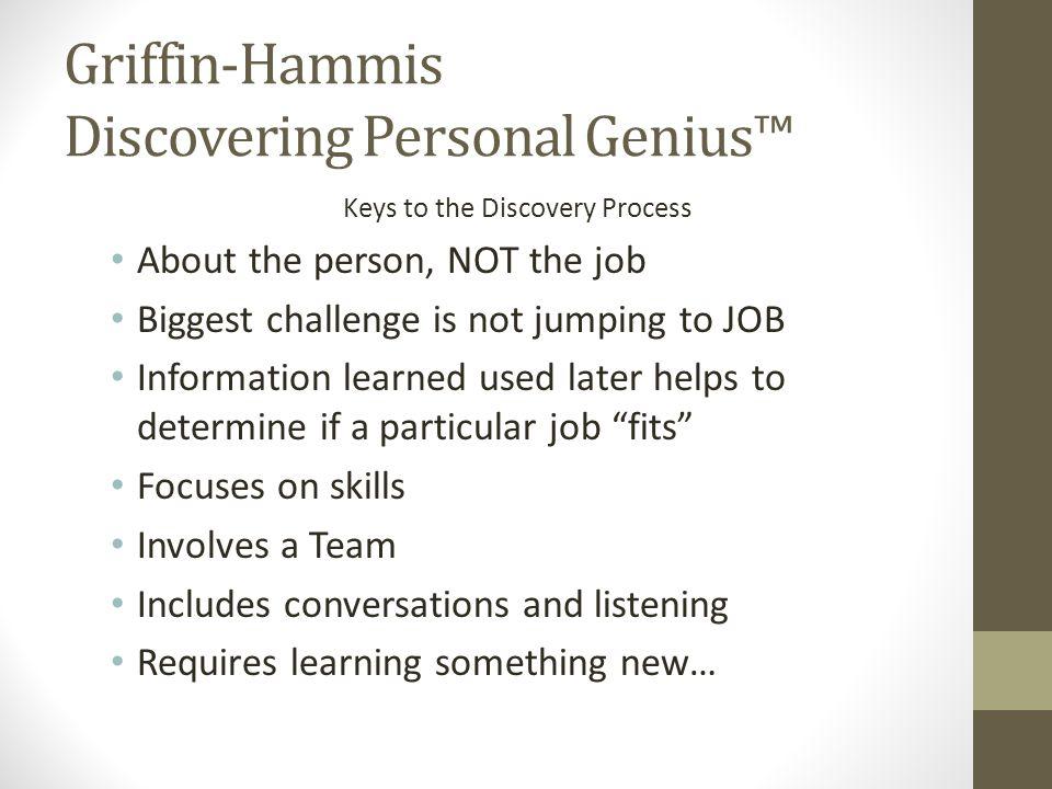 Griffin-Hammis Discovering Personal Genius™