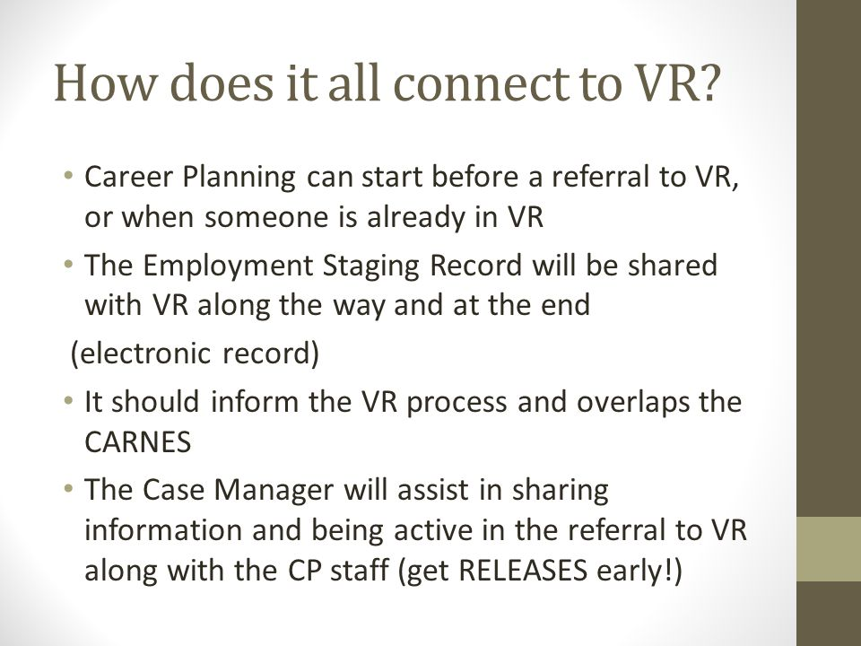 How does it all connect to VR