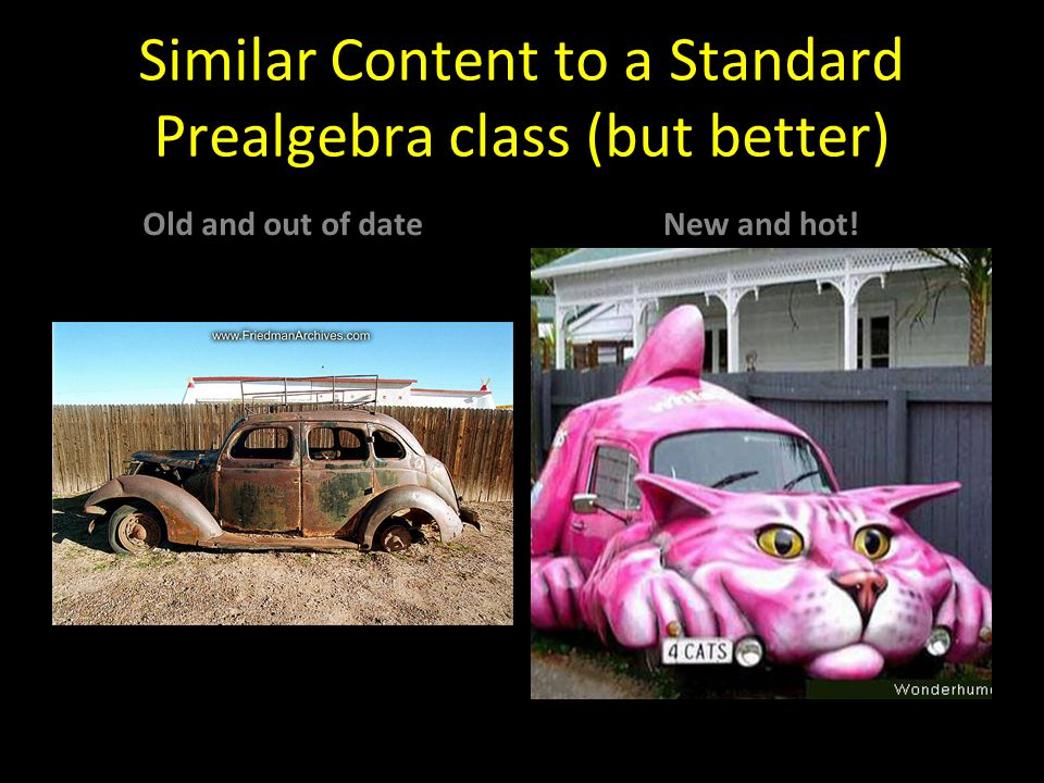 Similar Content to a Standard Prealgebra class (but better)