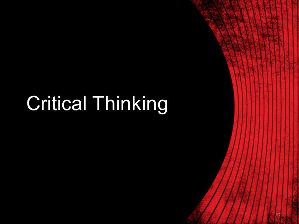 Critical Thinking Reasonableness of Answers