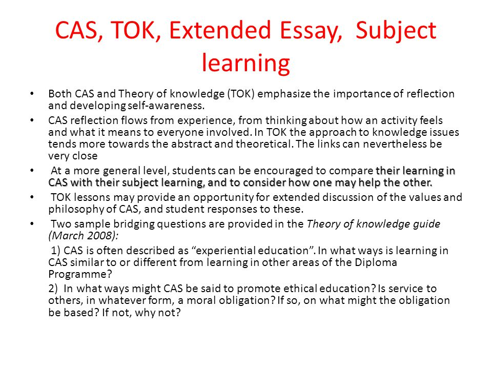 cas reflections essay This girl, who double sided printed her tok essay learnt the hard way,   definitely try keep on top of your cas reflections- this will mean you.