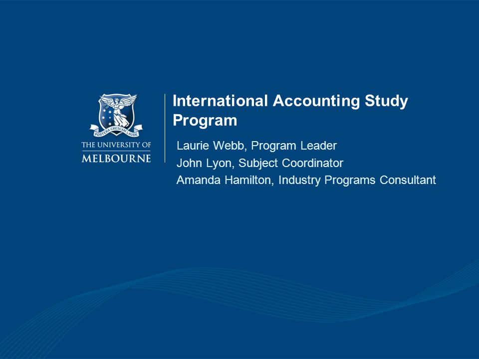 International Accounting Study Program