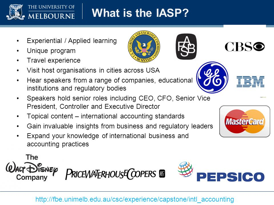 What is the IASP Experiential / Applied learning Unique program