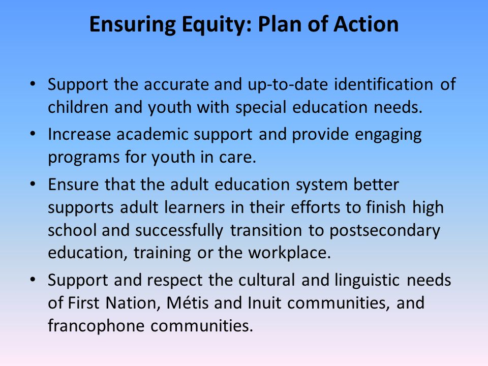 Ensuring Equity: Plan of Action