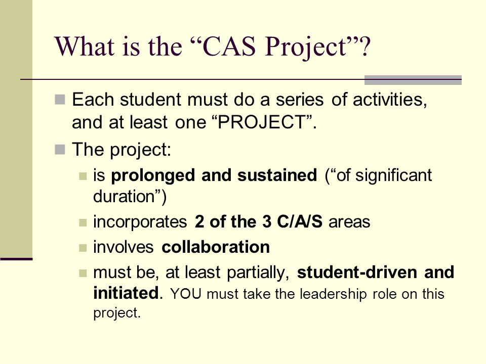 What is the CAS Project