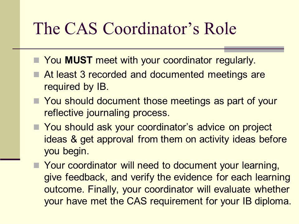 The CAS Coordinator's Role