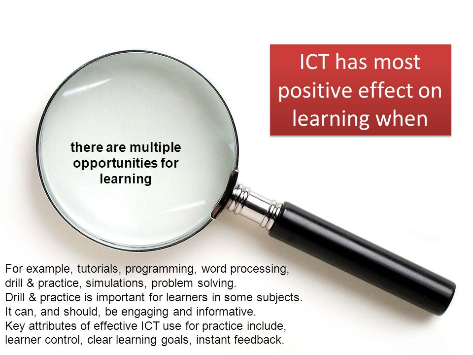 there are multiple opportunities for learning