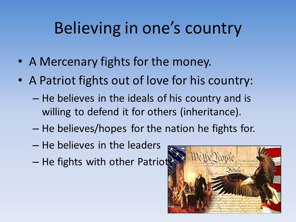 Believing in one's country