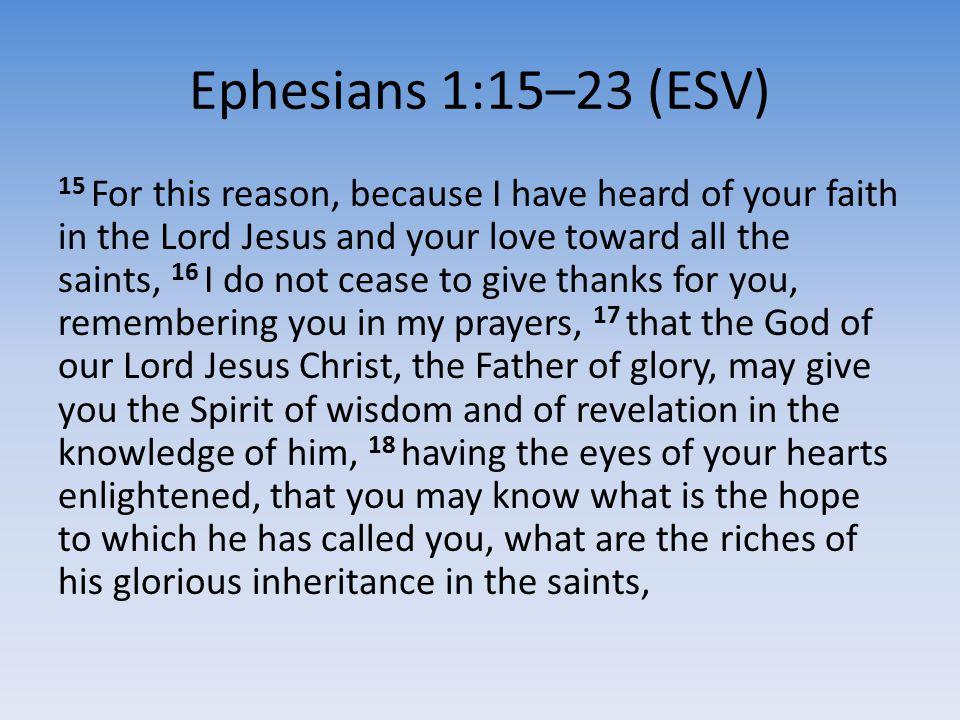 Ephesians 1:15–23 (ESV)