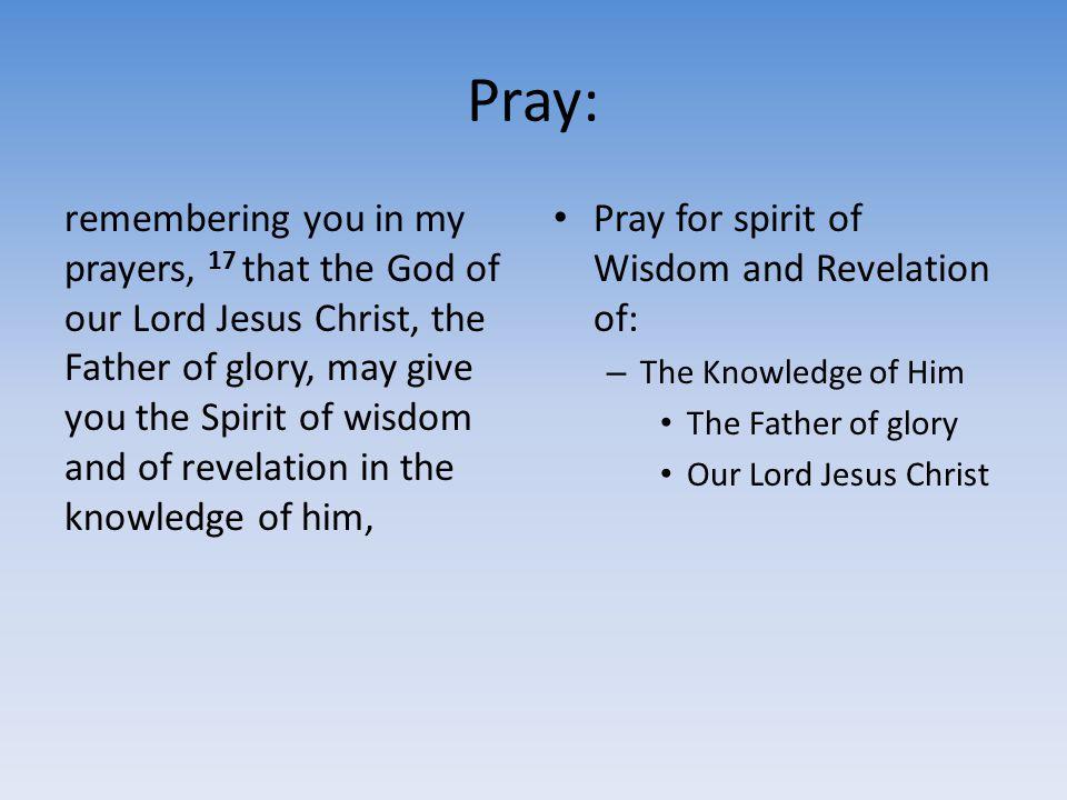 Pray: