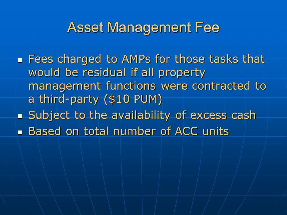 Asset Management Fee