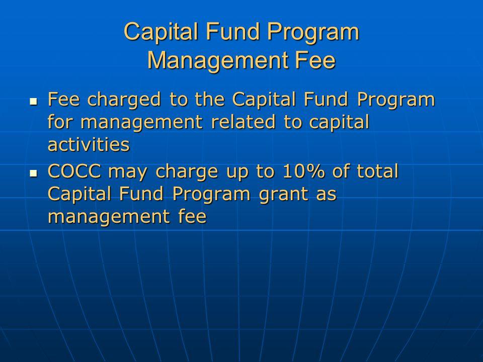 Capital Fund Program Management Fee