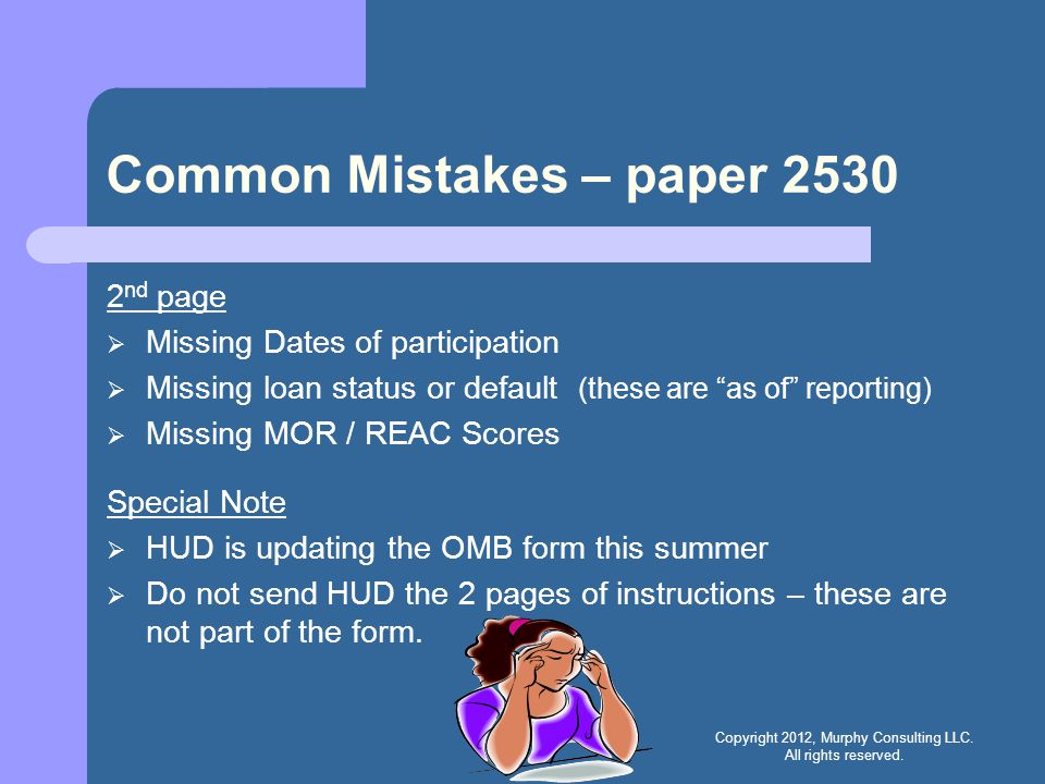 Common Mistakes – paper 2530