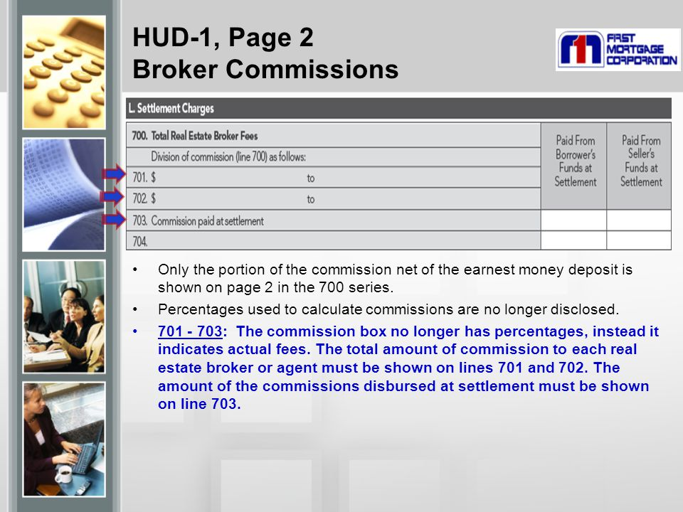 HUD-1, Page 2 Broker Commissions