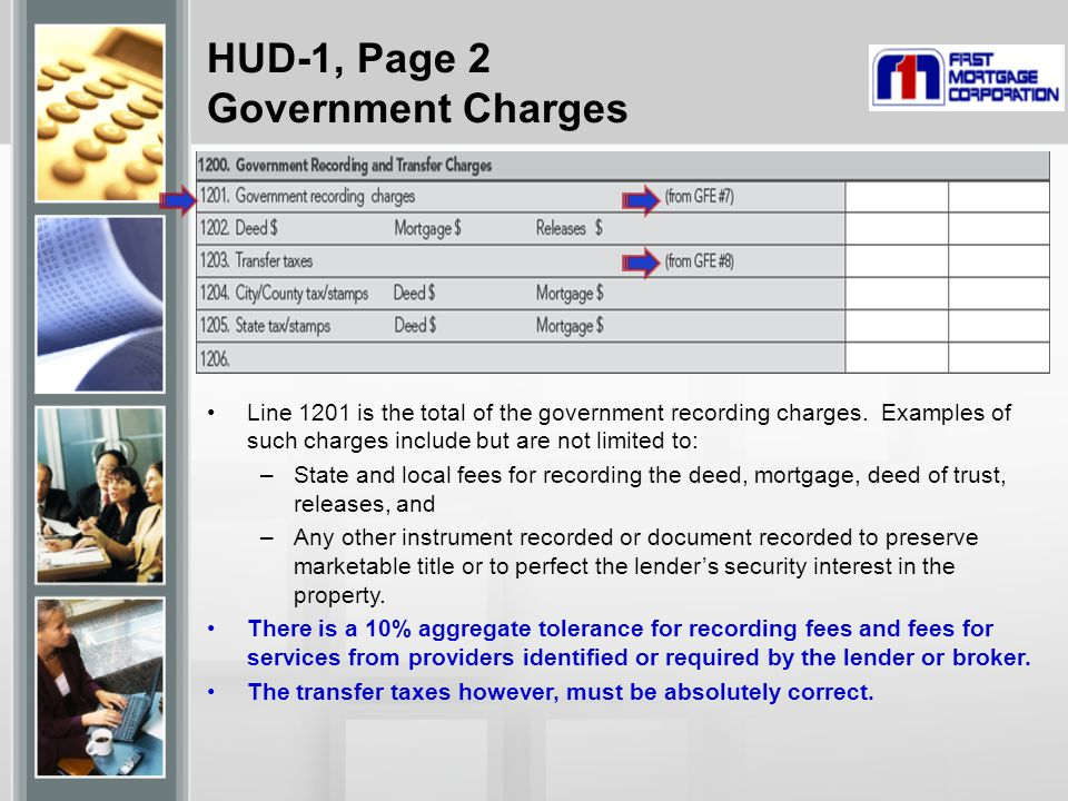 HUD-1, Page 2 Government Charges