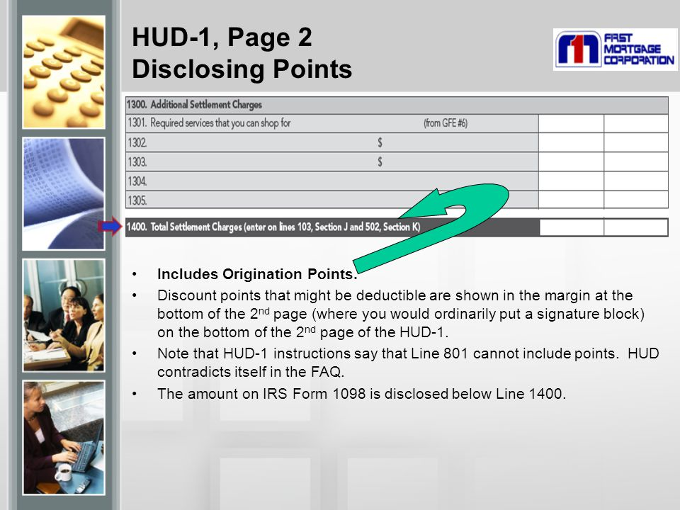 HUD-1, Page 2 Disclosing Points