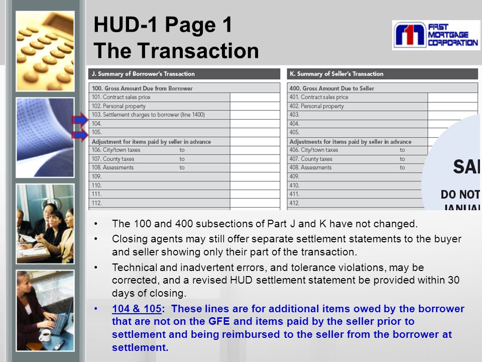 HUD-1 Page 1 The Transaction