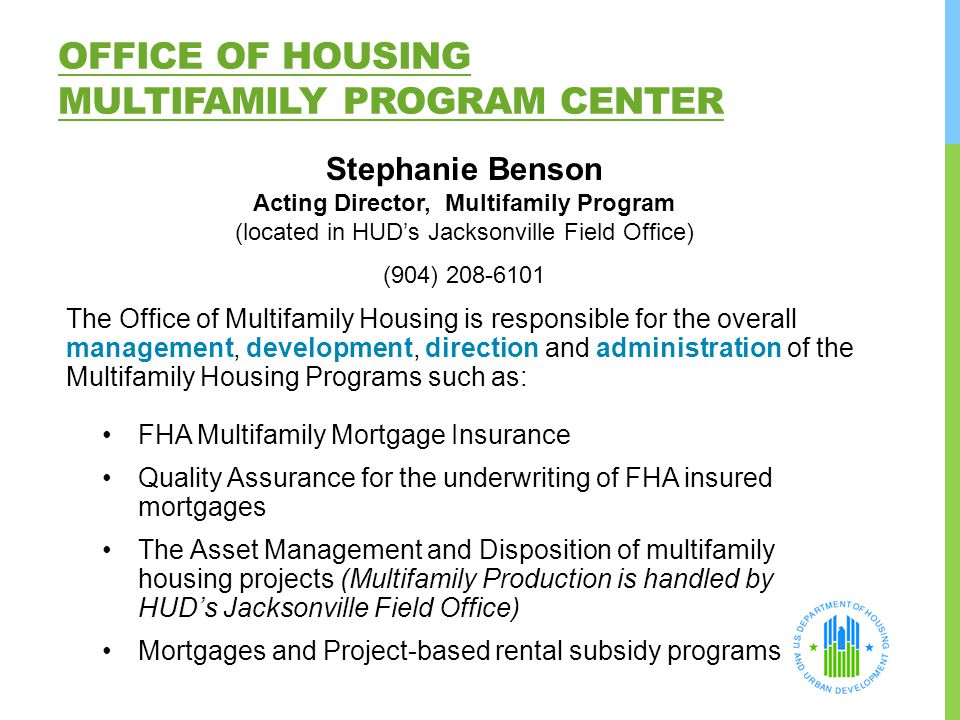 Office of Housing Multifamily Program Center