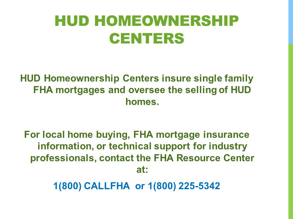 hud Homeownership Centers