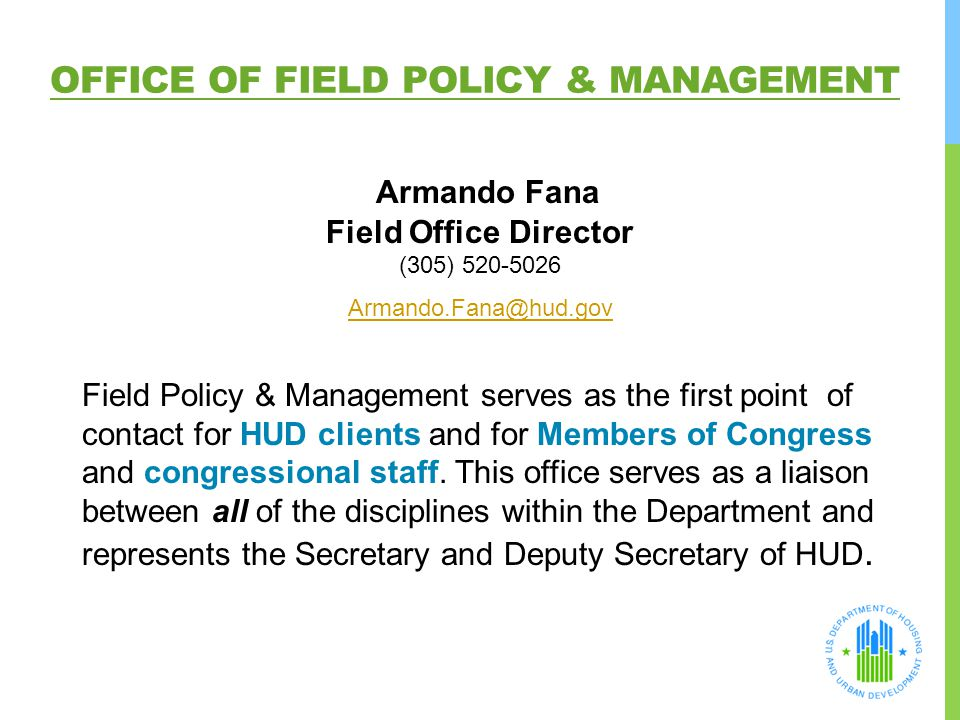 Office Of Field Policy & Management