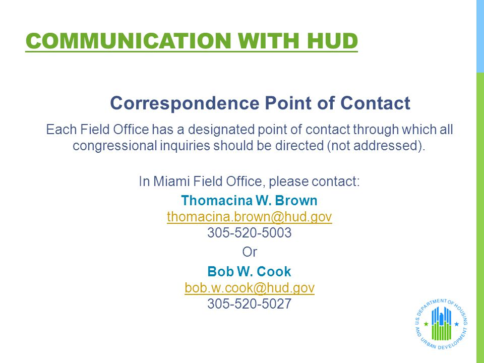 Communication with HUD