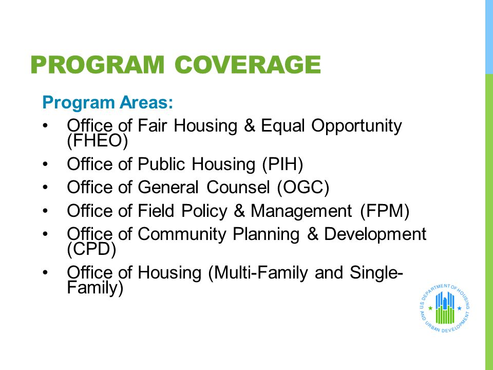 Program Coverage Program Areas: