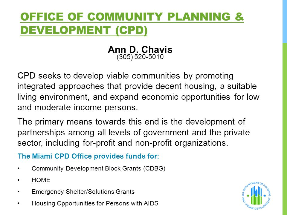 Office of Community Planning & Development (CPD)