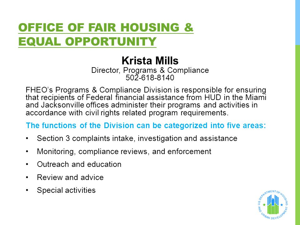 Office of Fair Housing & Equal Opportunity