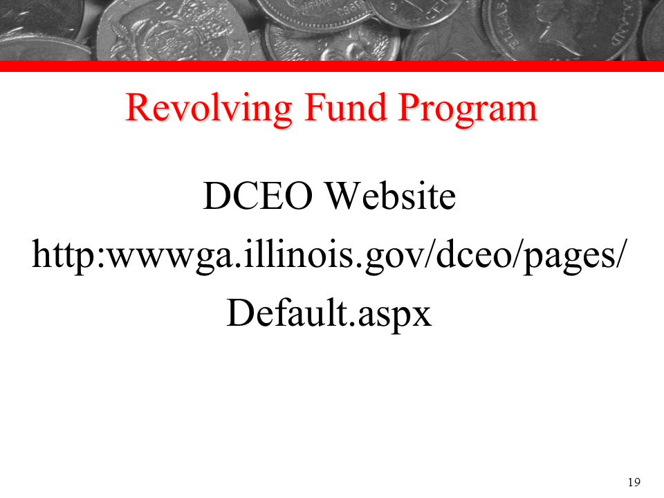 Revolving Fund Program