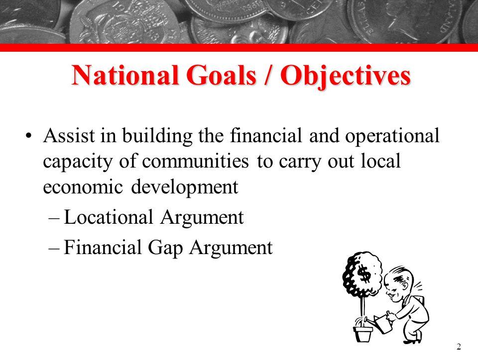 National Goals / Objectives