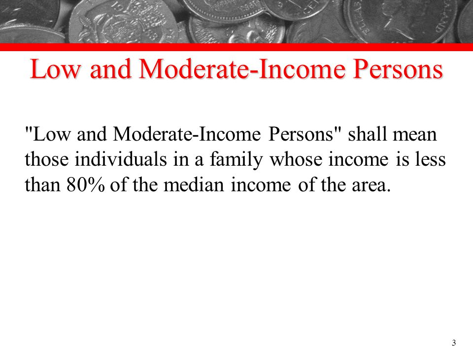 Low and Moderate-Income Persons