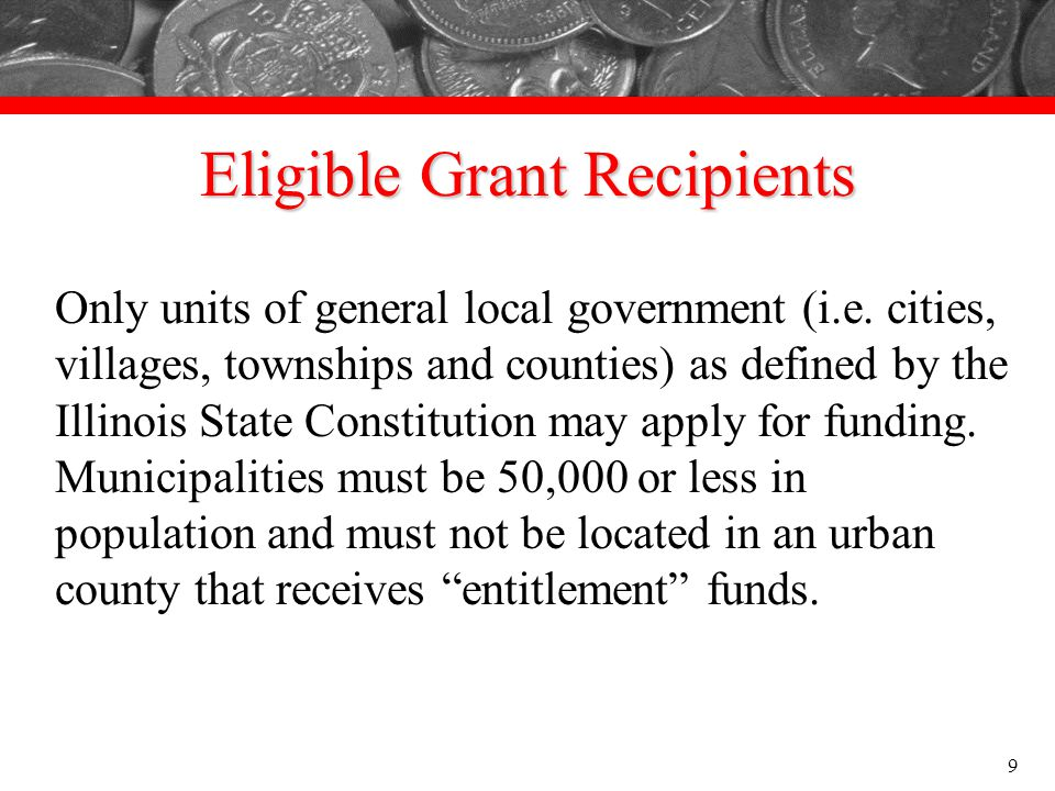 Eligible Grant Recipients