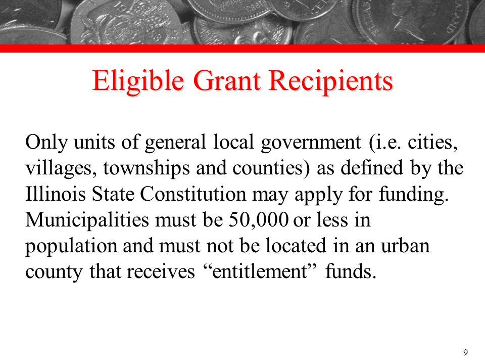 Eligible Grant Recipients