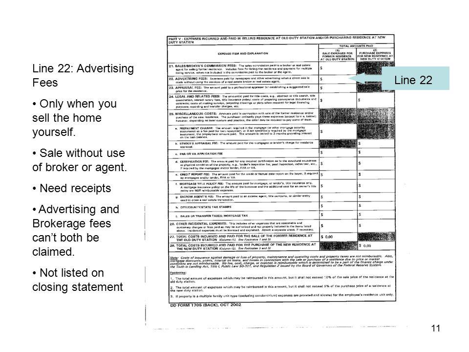 Line 22: Advertising Fees