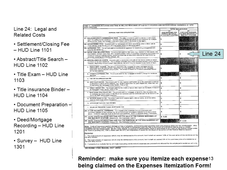 Line 24: Legal and Related Costs