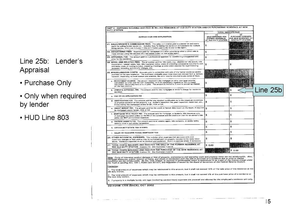 Line 25b: Lender's Appraisal