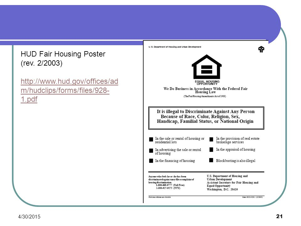 HUD Fair Housing Poster (rev. 2/2003)