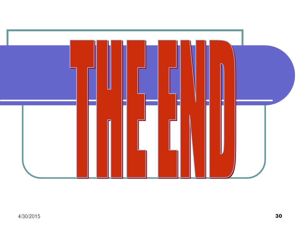 THE END 4/13/2017