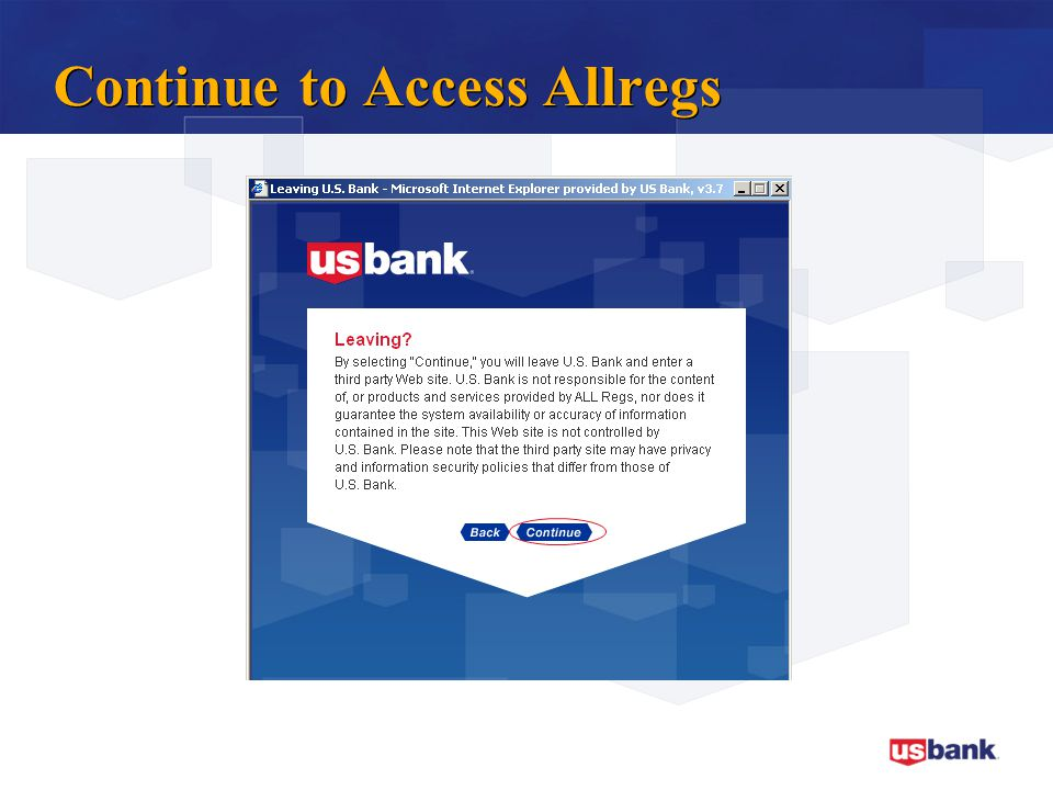 Continue to Access Allregs