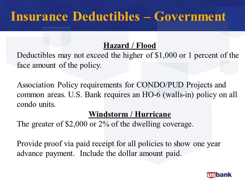 Insurance Deductibles – Government