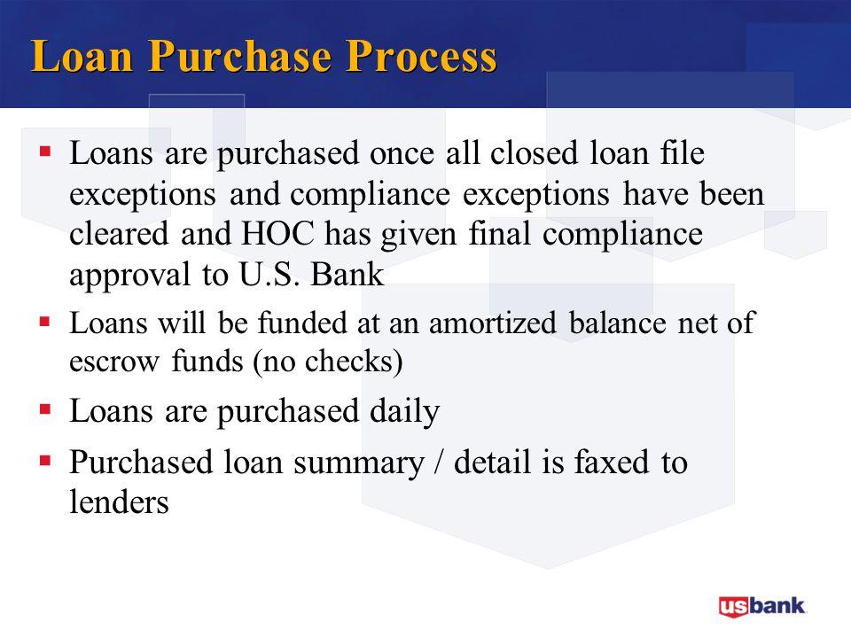 Loan Purchase Process