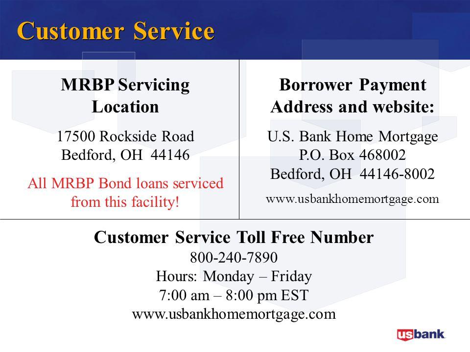 Customer Service MRBP Servicing Location