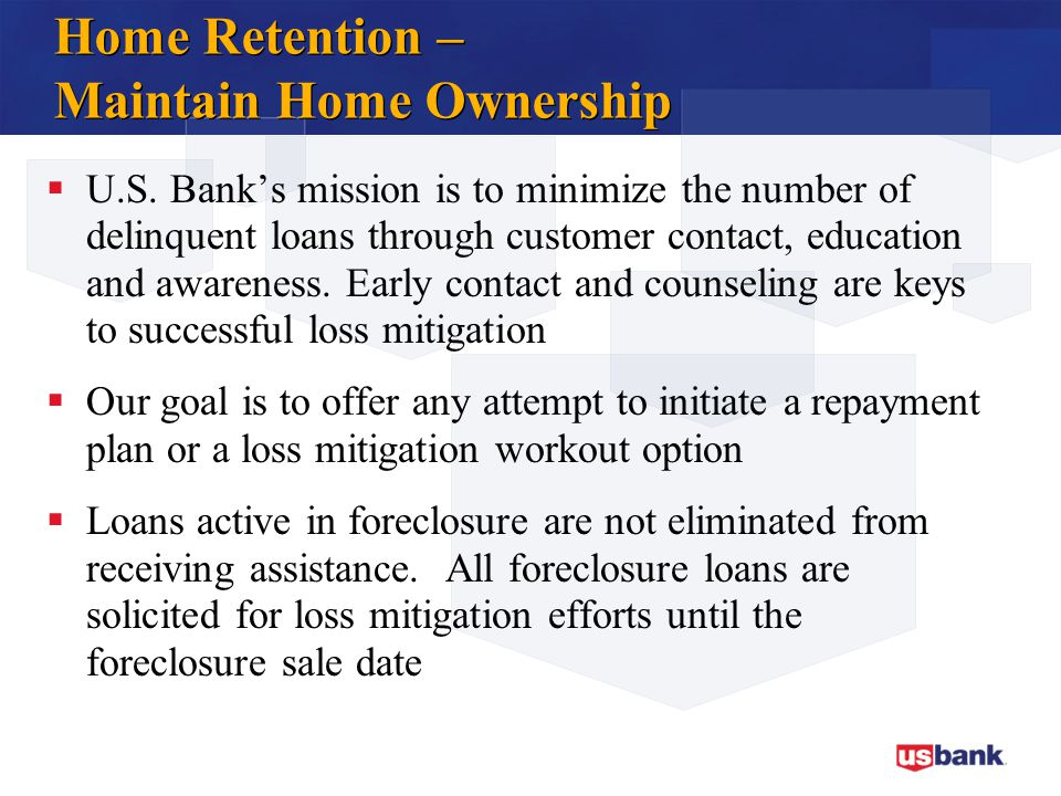 Home Retention – Maintain Home Ownership